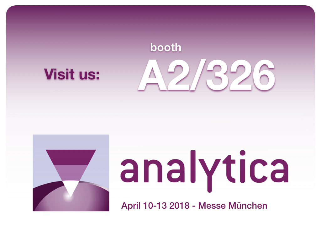 Analytica 2018 - booth A2/326 - visit us
