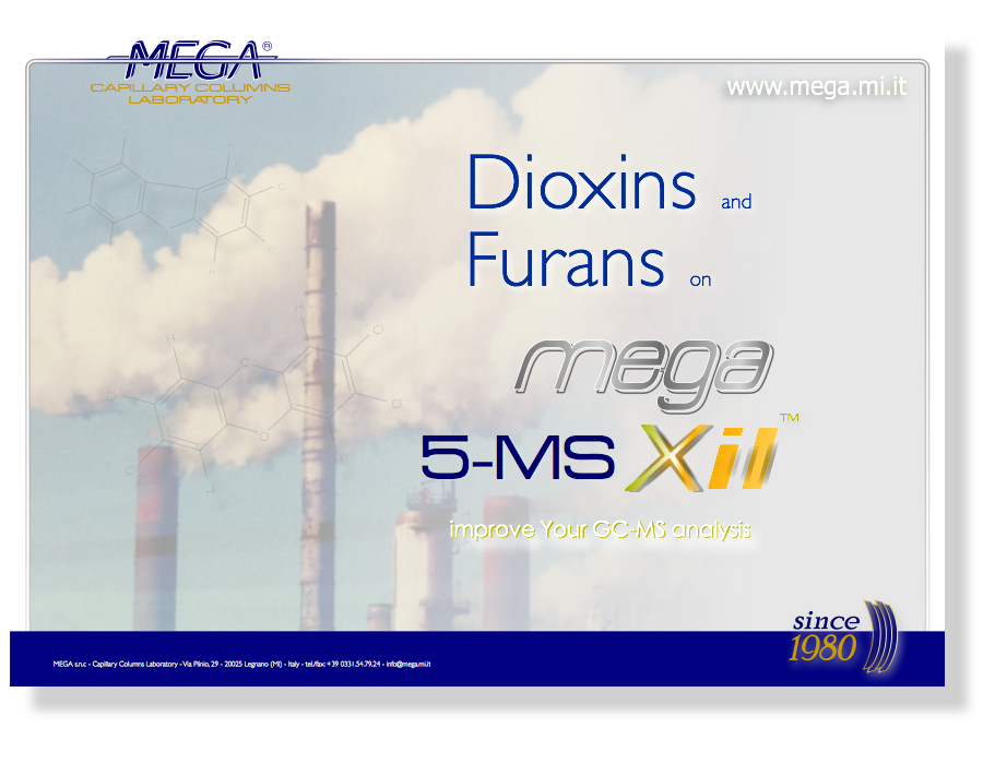 Dioxins Furans MEGA-5 MS Xil Applications Image